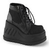 STOMP-10 Black Canvas/Vegan Leather